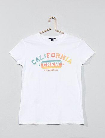 b25c6019bbe87 Fille 10-18 ans - T-shirt imprimé - Kiabi