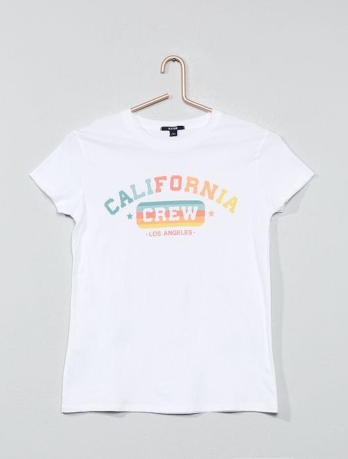 T-shirt imprimé                                                                                         blanc/california Fille adolescente
