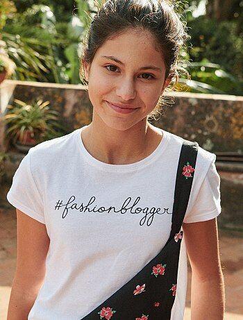2c6330b5f1ec Fille 10-18 ans - T-shirt imprimé - Kiabi
