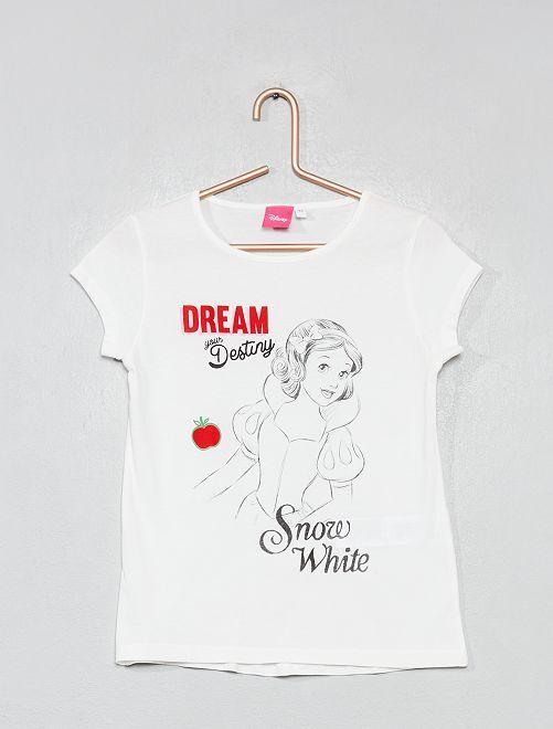 T-shirt imprimé 'Blanche-Neige'                                                                             écru Fille