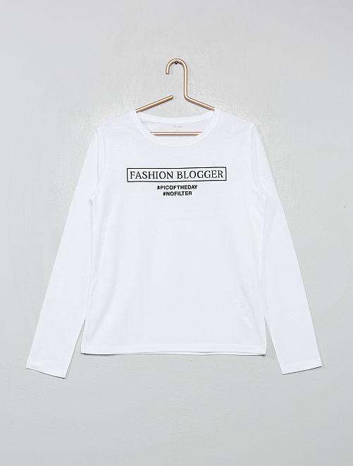 T-shirt imprimé                                                                                                                                         blanc/noir