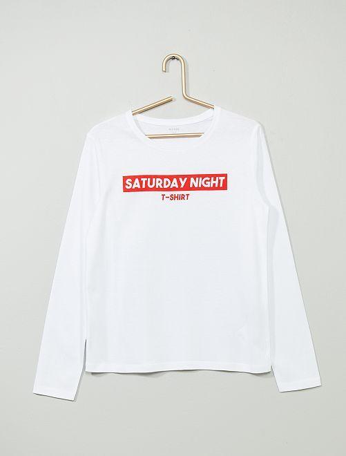 T-shirt imprimé                                                                                 blanc/rouge