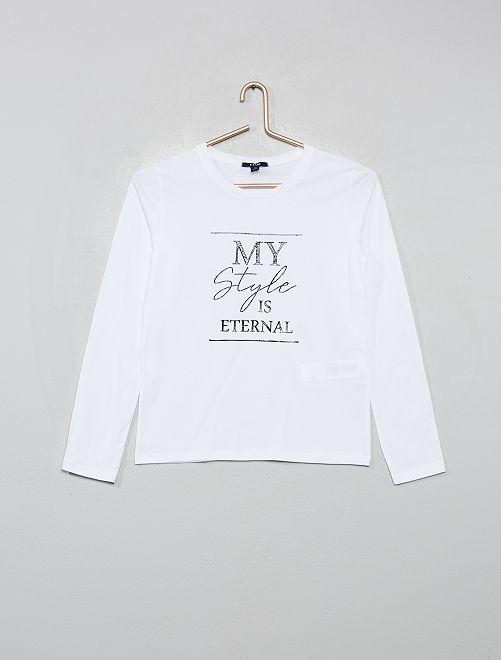 T-shirt imprimé                                                                                         blanc/style