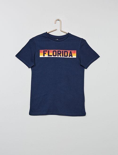T-shirt imprimé                                                                                                                 bleu florida