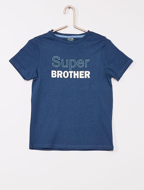 T-shirt imprimé                                                                                                                 bleu