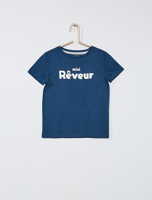 T-shirt imprimé                                                                                                                 bleu reve
