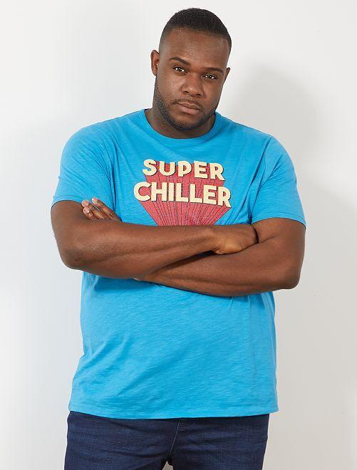 T-shirt imprimé                                         bleu turquoise