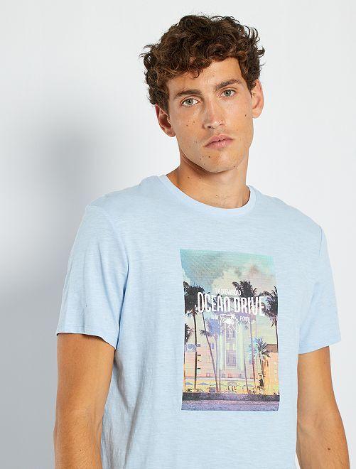 T-shirt imprimé                                                                                                                                                                 bleu/ocean