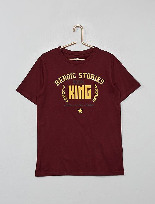 T-shirt imprimé                                                                 bordeaux