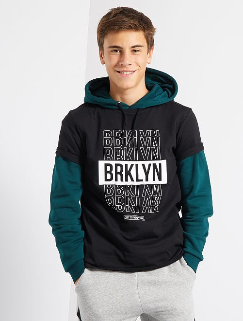 T-shirt imprimé 'BRKLYN'                             noir