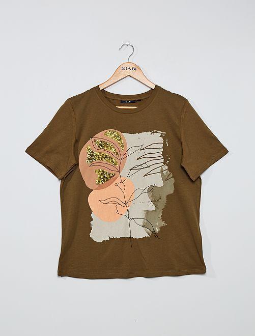 T-shirt imprimé                                                                             brun
