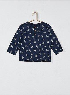 Garçon 0-36 mois - T-shirt imprimé col tunisien - Kiabi