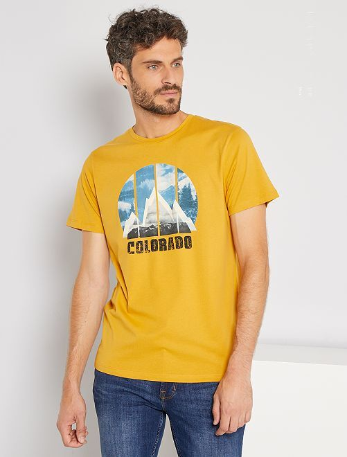 T-shirt imprimé Colorado 'Produkt'                             jaune