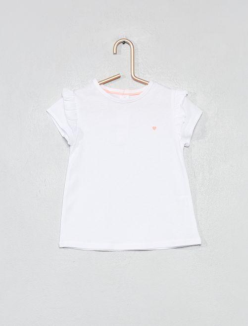 T-shirt imprimé coton bio                                                                                                                                                                             blanc Bébé fille