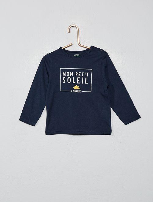 T-shirt imprimé coton bio                                                                                                                                                                                                     bleu soleil Bébé garçon