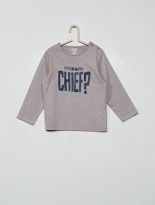 T-shirt imprimé coton bio                                                                                                                                                                 gris chef