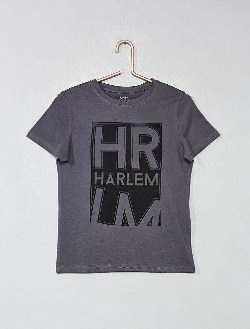 T-shirt imprimé coton bio                                                                                                                                                                                                     gris foncé Garçon