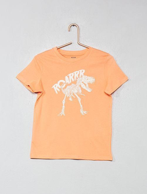 T-shirt imprimé coton bio                                                                                                                                                                                                     orange/dino Garçon