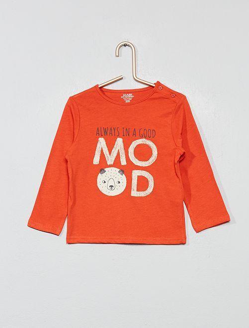 T-shirt imprimé coton bio                                                                                                                                                                                                                 rouge ours Bébé garçon