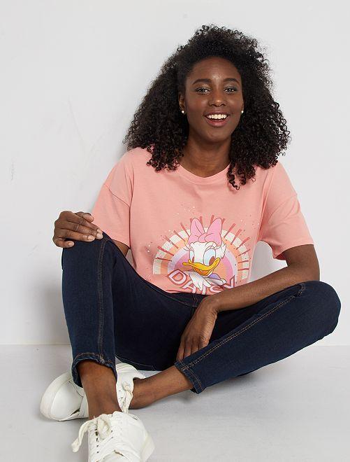 T-shirt imprimé 'Daisy'                                                                                                                 corail 'Daisy'