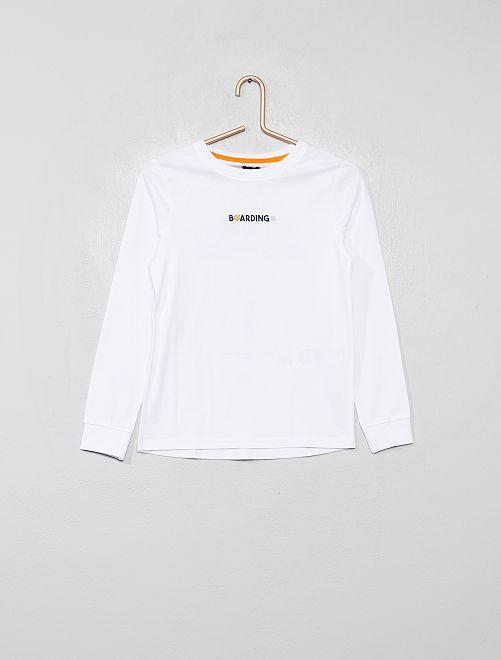 T-shirt imprimé devant et dos                                                                 blanc