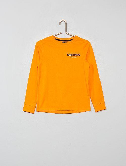 T-shirt imprimé devant et dos                                                                 orange