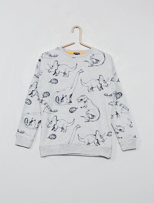 T-shirt imprimé 'Dinosaure'                                                     gris chiné