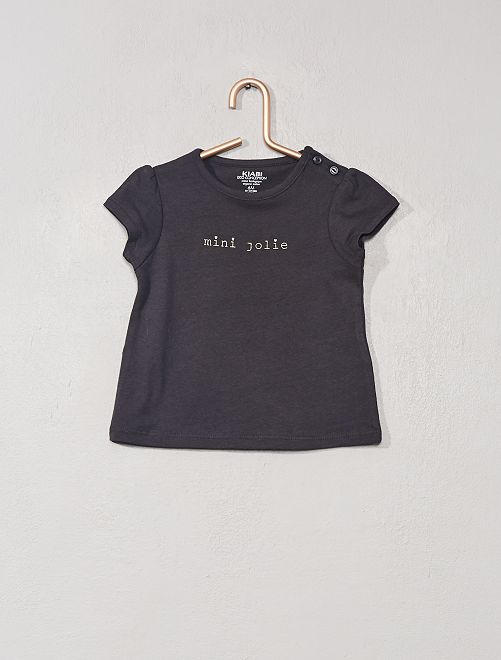 T-shirt imprimé 'éco-conception'                                                                                                     anthracite