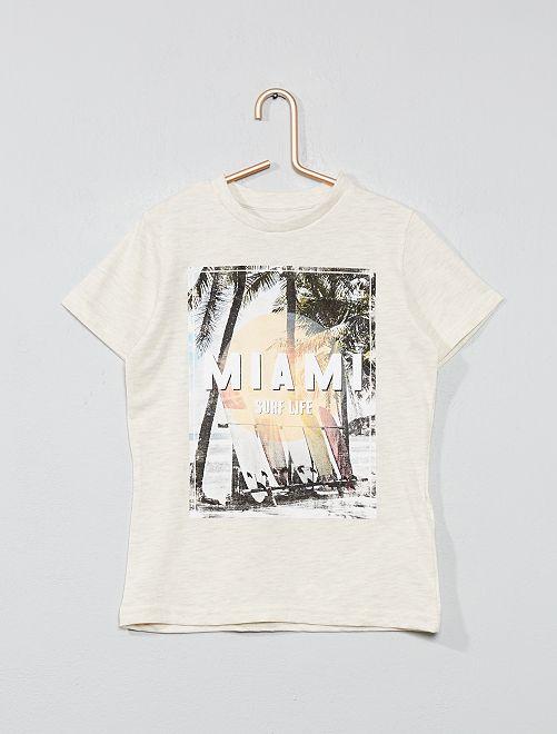 T-shirt imprimé 'éco-conception'                                                                                                                                                                             beige chiné
