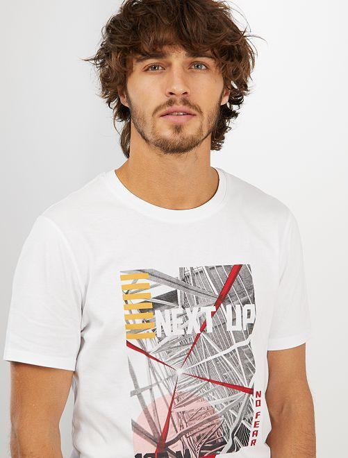 T-shirt imprimé 'éco-conception'                                                                                                                                         blanc archi