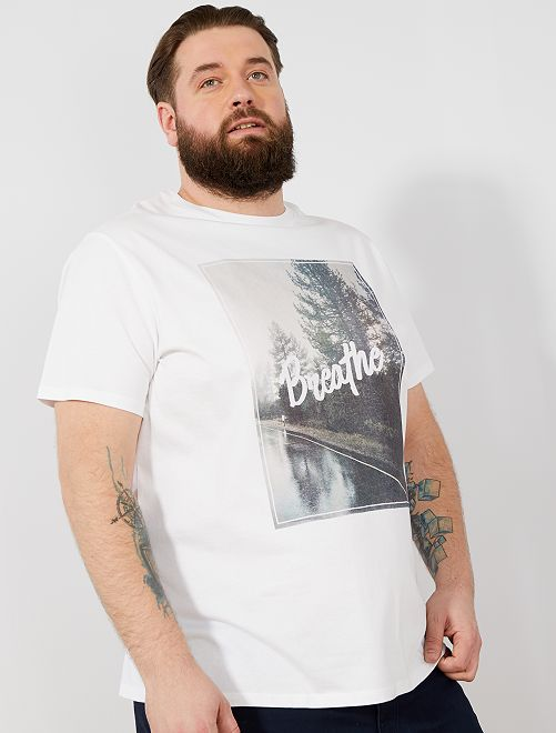 T-shirt imprimé 'éco-conception'                                                         blanc breathe