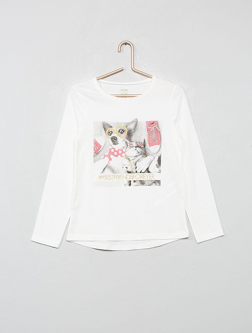 T-shirt imprimé 'éco-conception'                                                     BLANC