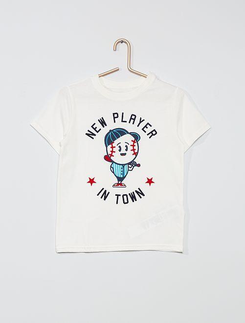 T-shirt imprimé 'éco-conception'                                                                                                                                                                                         blanc/baseball