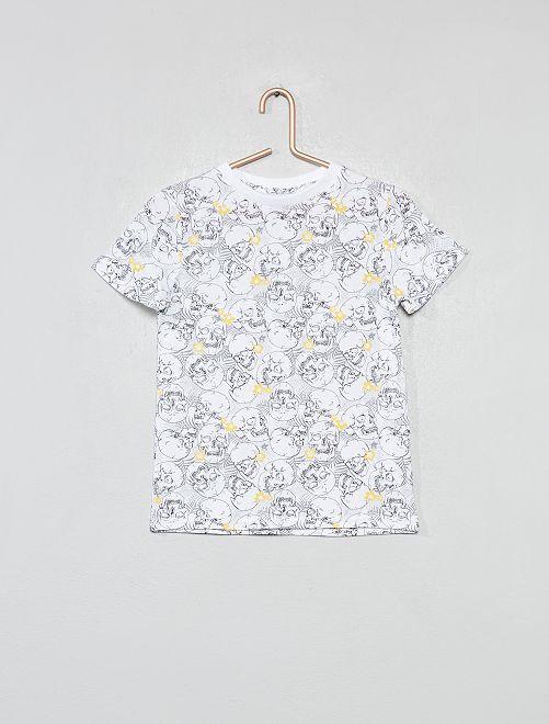 T-shirt imprimé 'éco-conception'                                                                                                     blanc/crane Garçon
