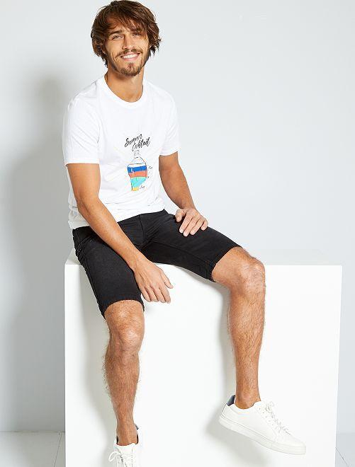 T-shirt imprimé 'éco-conception'                                                                                                                                                                                                                 blanc/shaker