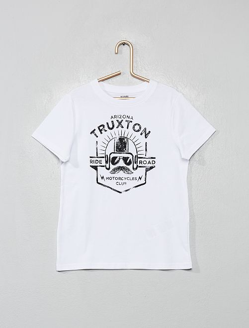 T-shirt imprimé 'éco-conception'                                                                                                                                                     blanc/truxton