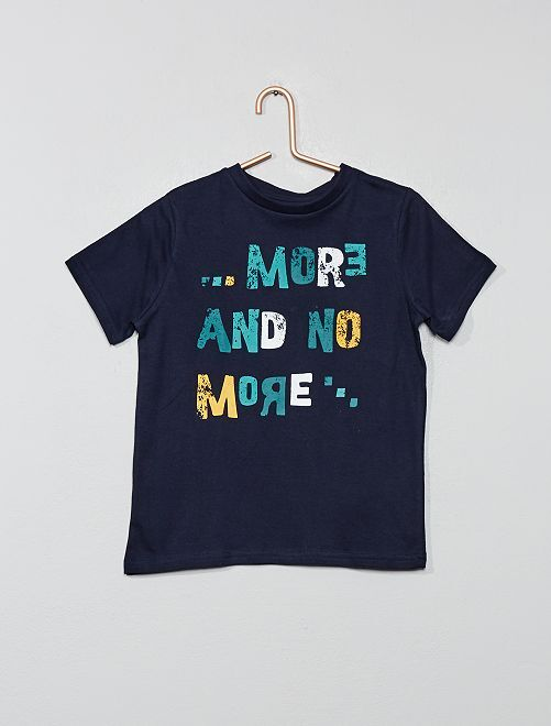T-shirt imprimé 'éco-conception'                                                                                                     bleu foncé