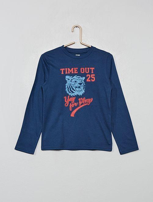 T-shirt imprimé 'éco-conception'                                                                                                                             bleu