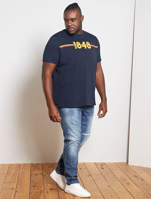 T-shirt imprimé 'éco-conception'                                                                             bleu marine 1848
