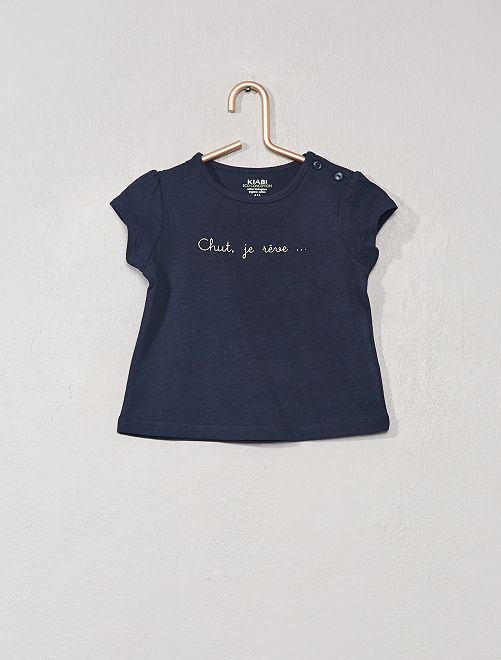 T-shirt imprimé 'éco-conception'                                                                                                     bleu marine