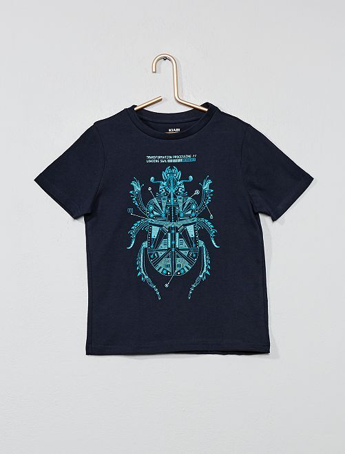 T-shirt imprimé 'éco-conception'                                                                                                                                                                             bleu marine Garçon