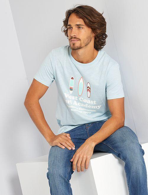 T-shirt imprimé 'éco-conception'                                                     bleu pâle/west coast