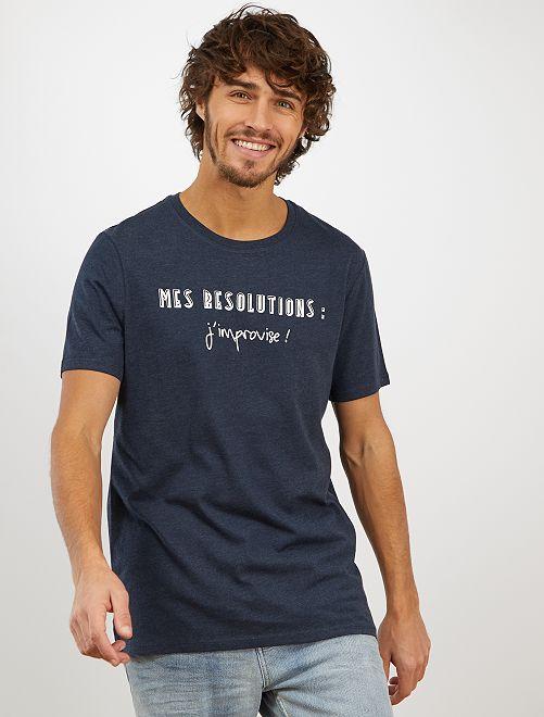 T-shirt imprimé 'éco-conception'                                                                                                                                                                 bleu pétrole improvise