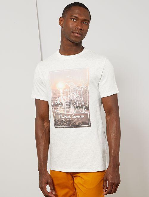 T-shirt coton bio 'éco-conception'                                                                                                                                                                                                         écru chiné best