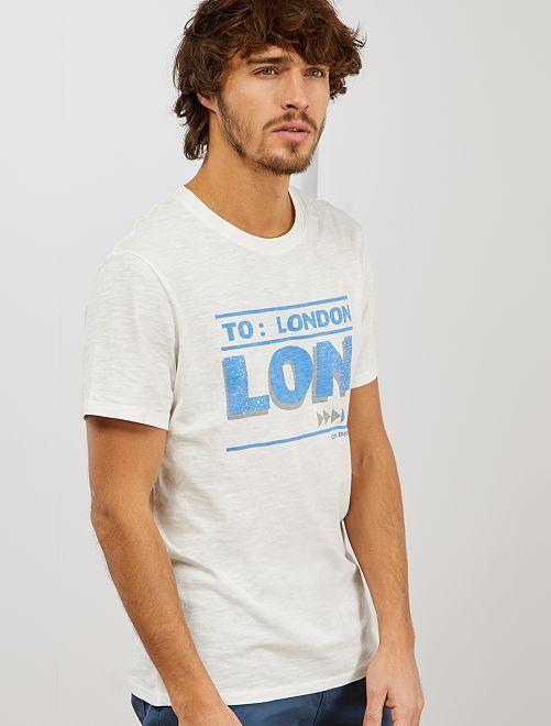 T-shirt imprimé 'éco-conception'                                                                 écru london