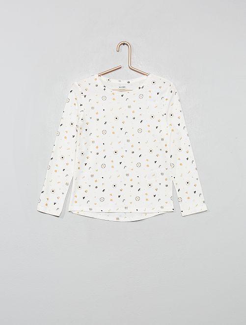 T-shirt imprimé 'éco-conception'                                                                                         écru/noël