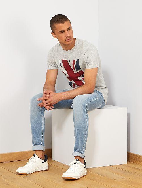 T-shirt coton bio 'éco-conception'                                                                                                                                 gris chiné camden