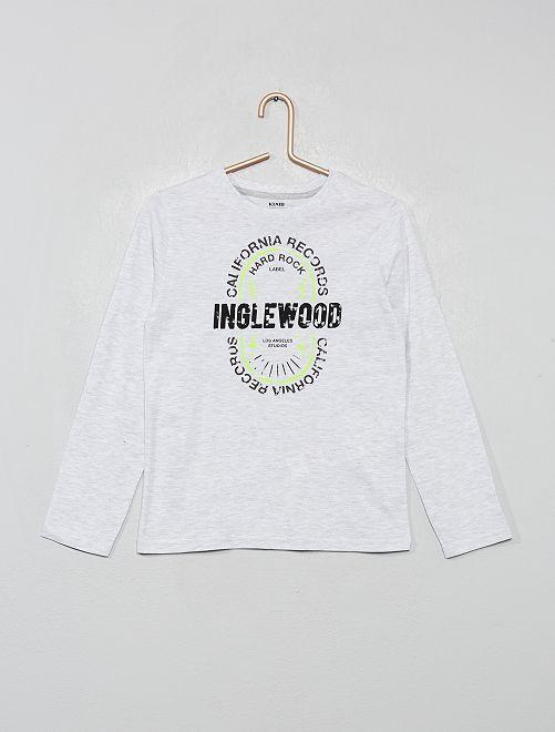 T-shirt imprimé 'éco-conception'                                                                                                                             gris