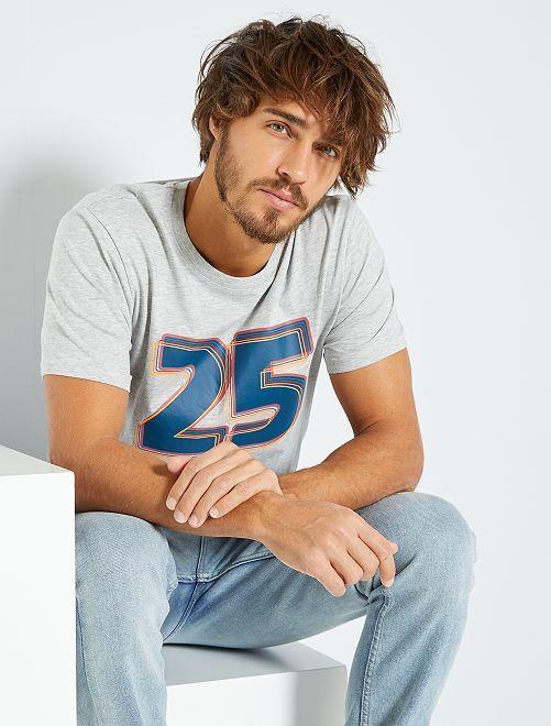 T-shirt imprimé 'éco-conception'                                                                                                                                                                                                                 gris/25