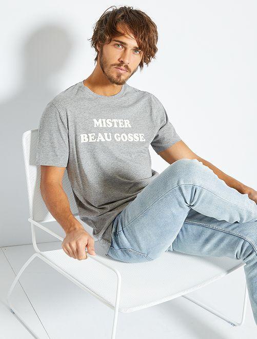 T-shirt imprimé 'éco-conception'                                                                                                                                                                                                                 gris/beau gosse